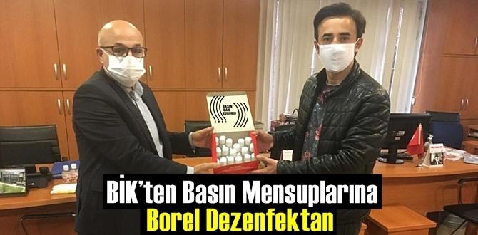 BİK Basın mensuplarına yerli 'BOREL' dezenfektan dağıtımı yapacak.