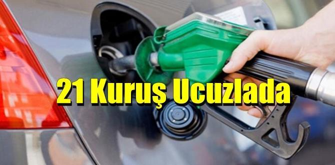 17 Nisan tarihinden itibaren Motorinin litre fiyatı 21 kuruş Ucuzladı.