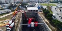 İstanbul'daki metro şantiyelerinde çalışmalar sürüyor.