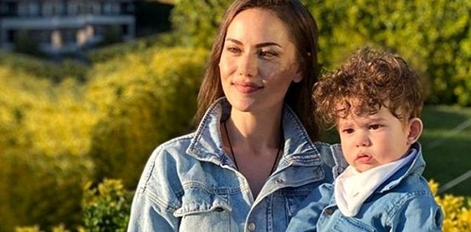 Fahriye Evcen Anneler Gününü Eşi ve oğlu ile Evlerinde Kutladı.