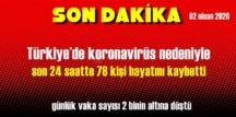 02 nisan 2020 Koronavirüs Tablosu haberimizde..