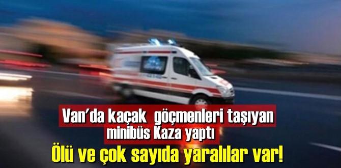 Van'da kaçak göçmenleri taşıyan minibüs Kaza yaptı Ölü ve çok sayıda yaralılar var!