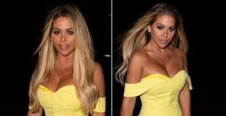 Bianca Gascoigne, Sarı göğüs dekolteli elbiseyle dikkatleri üzerine çekiyor!
