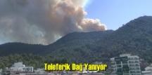 İzmir Balçova Teleferik Dağında Yangın Çıktı – Söndürme havadan karadan devam ediyor!