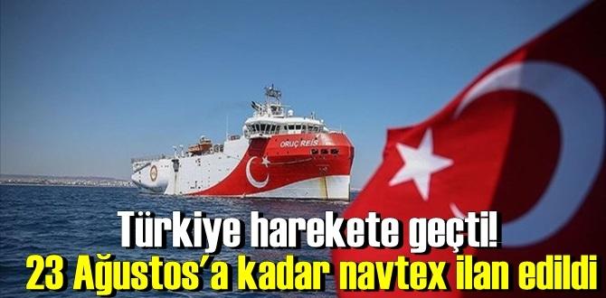 Navtex ilan edildi, Oruç Reis gemisi ilan edilen bölgede sismik çalışmalarını yürütecek!
