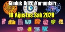18 Ağustos Salı 2020/ Günlük Burç Yorumları analizi