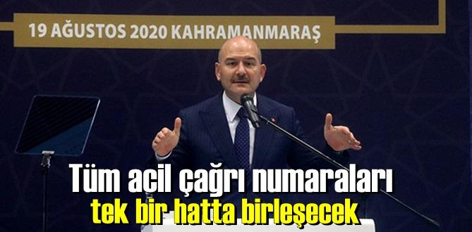 Bakan Soylu tarih verdi, 2021 haziran ayında acil çağrı numaraları 112'de birleşecek.
