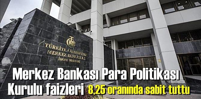 20 Ağustos 2020 perşembe/ Ekonomi/ Merkez Bankasının faiz kararı belli oldu! faizler 8,25'de kaldı.