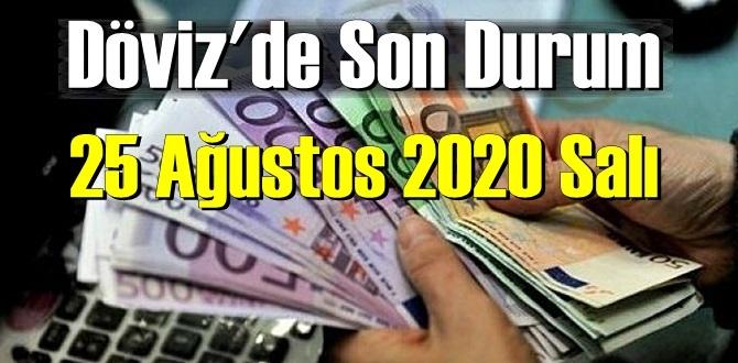 25 Ağustos 2020 Salı / Ekonomi'de – Döviz piyasası, Döviz güne nasıl başladı!