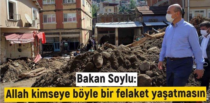 Bakan Süleyman Soylu, Giresun'un Dereli ilçesinde çalışmaları titizlikle inceledi