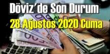 28 Ağustos 2020 Cuma/ Ekonomi'de Döviz piyasası, Döviz güne nasıl başladı!