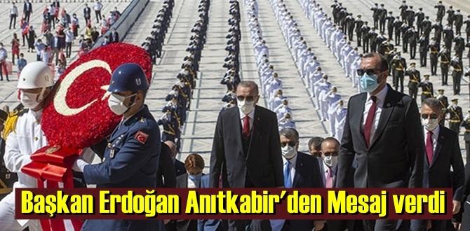 Başkan Erdoğan Anıtkabir'den Mesaj verdi,Türkiye boyun eğmeyecek!