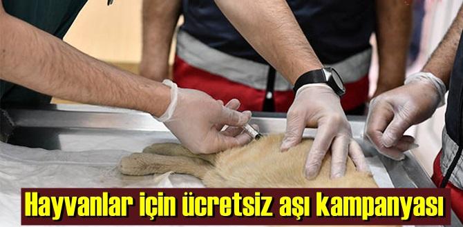 Sahipli veya sahipsiz Hayvanlar için ücretsiz aşı kampanyası!