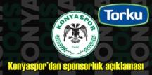Konyaspor'un Torku ile Sponsorluk açıklaması!