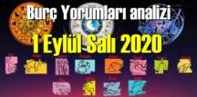 1 Eylül Salı 2020/ Günlük Burç Yorumları analizi