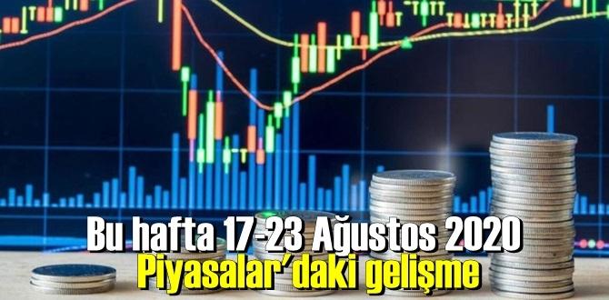 Bu hafta 17-23 Ağustos 2020 Piyasalar'daki gelişme, borsa kazandırdı, altın ve döviz kaybettirdi!
