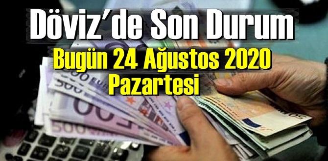 24 Ağustos 2020 Pazartesi/ Ekonomi'de – Döviz piyasası, Döviz güne nasıl başladı!