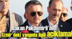 Bakan Pakdemirli: İzmir Menderes'deki Orman yangını 22 saat sonra kontrol altına alındı.