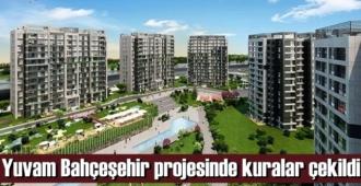 Kısa süre içerisinde yoğun ilgi gören Yuvam Bahçeşehir projesinde kura heyecanı yaşandı.