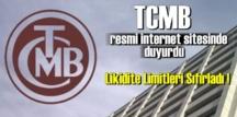 Merkez Bankası, Açık Piyasa İşlemleri için tanınan limitleri sıfırladı.
