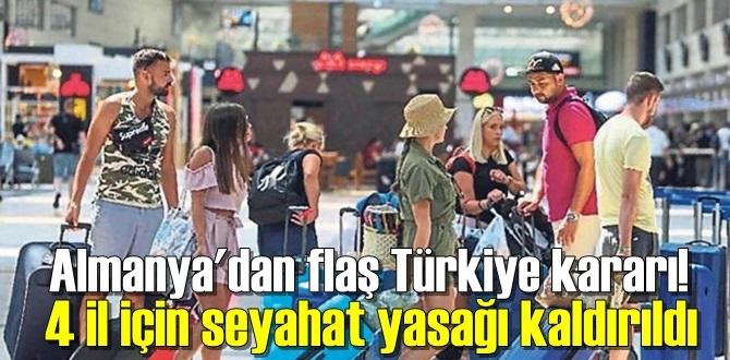 Almanya; aydın, Antalya, İzmir ve Muğla için seyahat uyarısını Kaldırdı!