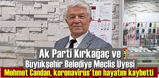 Ak Parti Meclis Üyesi Avukat Mehmet Candan koronavirüsten hayatını kaybetti!