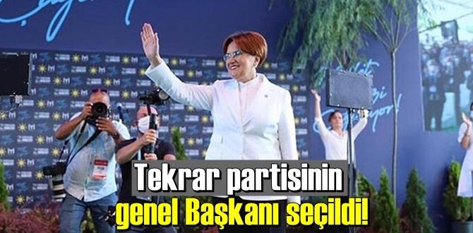 Meral Akşener 1289 oy ile tekrar partisinin genel Başkanı seçildi!
