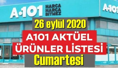 26 eylül 2020 Cumartesi/ A101 Aktüel Ürünler Kataloğu paylaşıldı!
