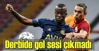 Galatasaray-Fenerbahçe derbisi golsüz bitti – Skor 0-0 berabere.