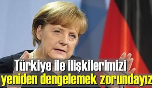 Angela Merkel:Türkiye ile arayı bulmalıyız !