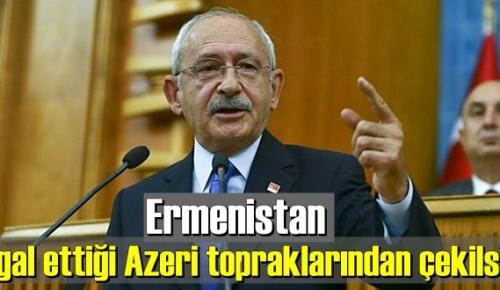 Ermenistan işgal ettiği Azeri topraklarından çekilsin!