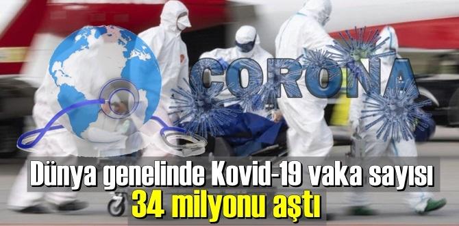 Dünya genelinde koronavirüs vaka sayısı 34 milyonu geçti.