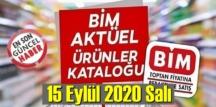 15 Eylül 2020 Salı / BİM aktüel ürünler kataloğu açıklandı!