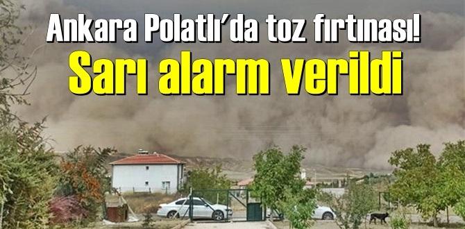 Ankara Polatlı'da Göz gözü görmüyor! Sarı alarm verildi dışarı sakın çıkmayın!