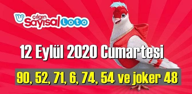 Sayısal Loto çekiliş sonuçları /12 Eylül 2020 Cumartesi belli oldu!90, 52, 71, 6, 74, 54 joker 48
