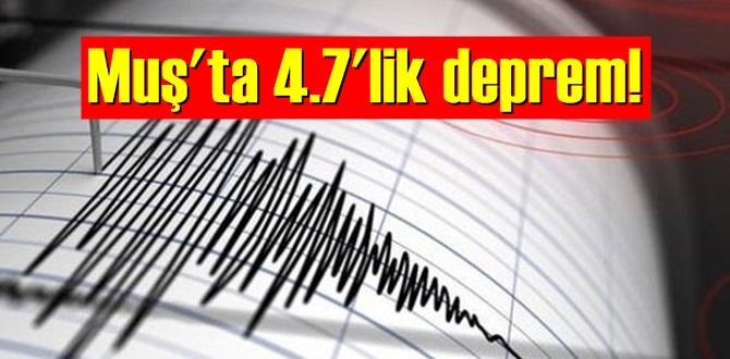 17 Eylül 2020 perşembe/ Muş'ta 4.7'lik deprem!