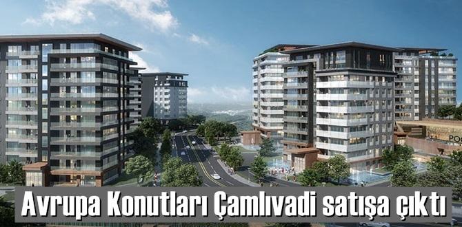 İstanbul Kağıthane'de kurulan Avrupa Konutları Çamlıvadi projesinde konut satışları başladı