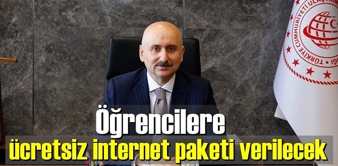 Bakan açıkladı, Öğrencilere ücretsiz internet paketi verilmeye devam edilecek!