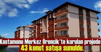 Kastamonu Merkez Örencik'te kurulan projede 43 konut satışa sunuldu.