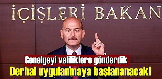 İçişleri Bakanı Süleyman Soylu açıkladı ,Yasak geldi artık yapılamayacak!