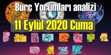 11 Eylül Cuma 2020/ Günlük Burç Yorumları analizi