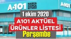 1 ekim 2020 Perşembe/ A101 Aktüel Ürünler Kataloğu paylaşıldı!