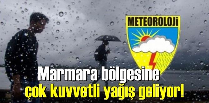 Meteoroloji'den yeni bir Uyarı! Marmara bölgesine çok kuvvetli yağış geliyor!