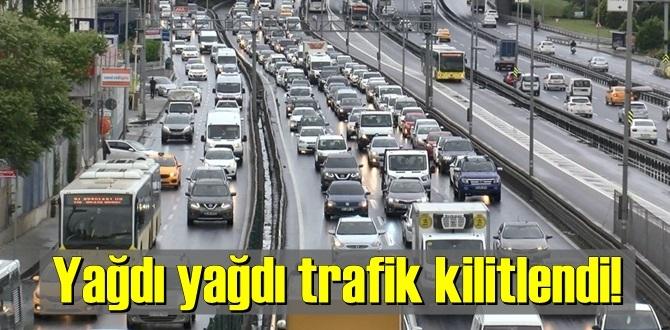 İstanbul'da son günlerin Yağmur rekoru kırıldı! yağdı yağdı trafik kilitlendi!