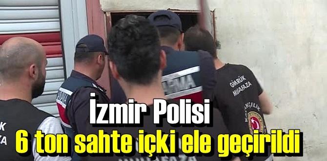 İzmir polisi, bir Depoya yaptığı baskın'da 6 ton sahte içki ele geçirdi!