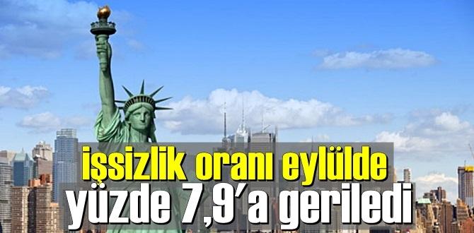 Rapor açıklandı,İşsizlik oranı eylülde yüzde 7,9'a geriledi!