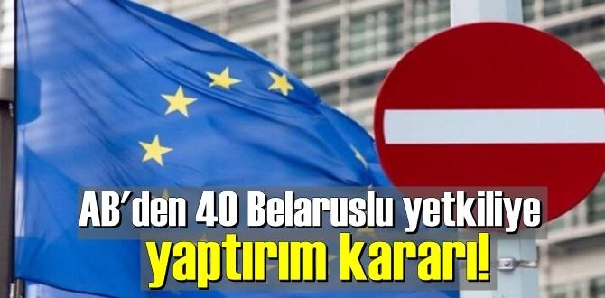 Avrupa Birliğin'den bazı Belaruslu yetkililere yaptırım geldi!
