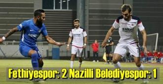 Ziraat Türkiye Kupası 2. tur mücadelesinde Fethiyespor: 2 Nazilli Belediyespor: 1