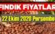 22 Ekim perşembe Türkiye günlük Fındık piyasası, Fındık bugüne nasıl başladı.