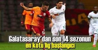 Galatasaray, Aytemiz Alanyaspor'a 2-1 yenilerek puan kaybetti.